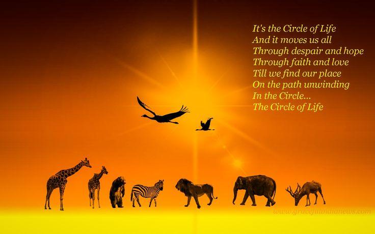 the circle of life lyrics digital art wallpaper 1920 1200