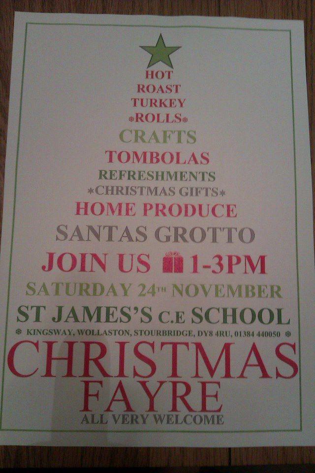 Christmas Fayre Poster PTA PTFA