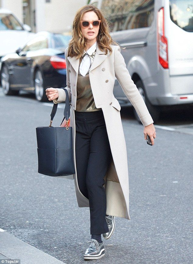 Chic: The mother-of-one, who presents style segments on This Morning, paired her effortles...