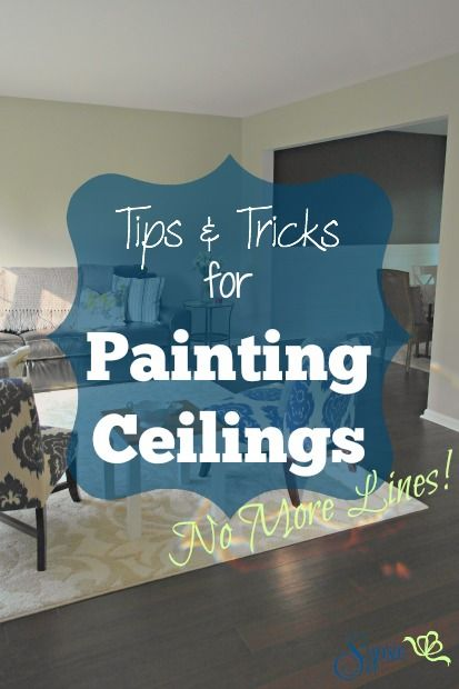 Tips and Tricks for Painting Ceilings (No More Lines!) - Sypsie Designs