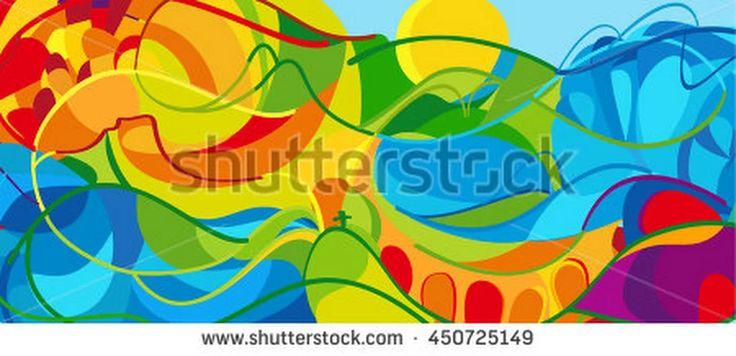 Rio. 2016 Abstract Colorful Background. Rio De Janeiro 2016 Brazil Wallpaper. Summer Athletic Sport Brazil Colorful Pattern. Vector Illustration For Art, Print, Web Design, Advertising. - 450725149 : Shutterstock