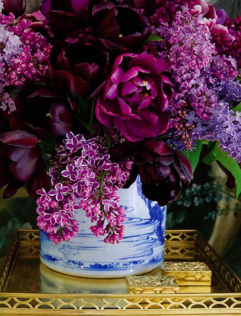 lilac flower arrangement