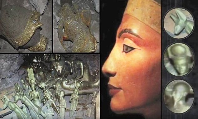 Discovery of Ancient Artifacts dated to 10,000 B.C. show Nefertiti's deep connection to Atlantis. The explosive initial results give an earth shattering date of 10,000 B.C. to these classically Dynastic Egyptian artifacts. That predates the historic Egypt by 8,000 years! The groundbreaking discovery throws a completely new light on the age of the royal lineage of the Amarna ruling family. This royal lineage includes Akhenaten, Amenhotep, Nefertiti, Hatshepsut and Tutankhamen.