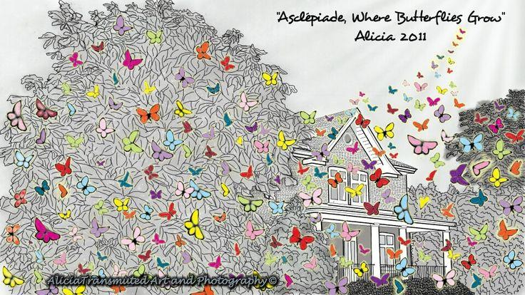 Asclepiade, Where Butterflies Grow ☆ Art: AliciaTransmuted Art and Photography