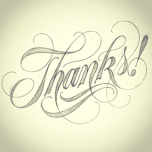 Feeling grateful today. This is for everyone; family, friends & followers. #thanks #script #lettering