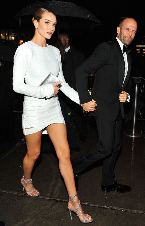 24 Met Gala Afterparty Dresses You Can't Miss   People - Rosie Huntington-Whiteley and Jason Statham