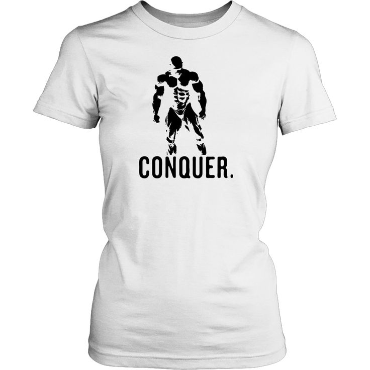 Mr.Olympia Bodybuilding Vector - Conquer Design T-Shirt Hoodie - Tank-Top