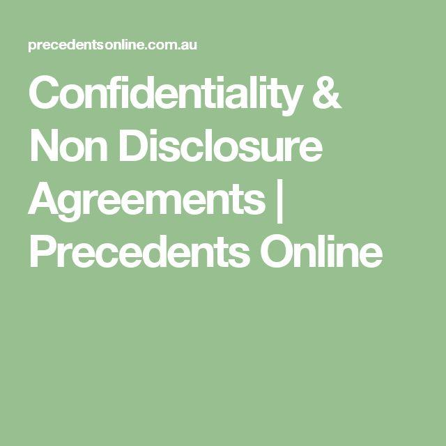 Best 25+ Non disclosure agreement ideas on Pinterest