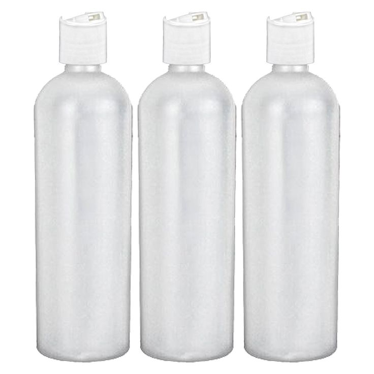 16 oz Easy Squeeze HDPE Bottles Commercial Grade with White Disc Cap - 3 Pack