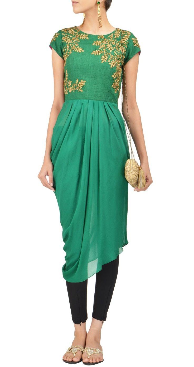 Fancy #Green Tunic