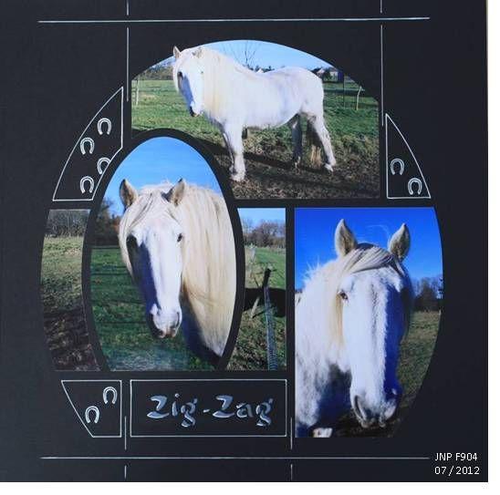Le cheval blanc Zig-Zag - Kit Be Chante