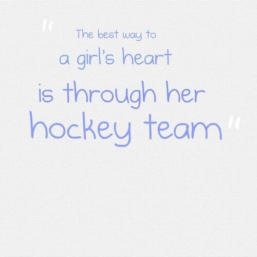 A hockey girls heart anyway :)