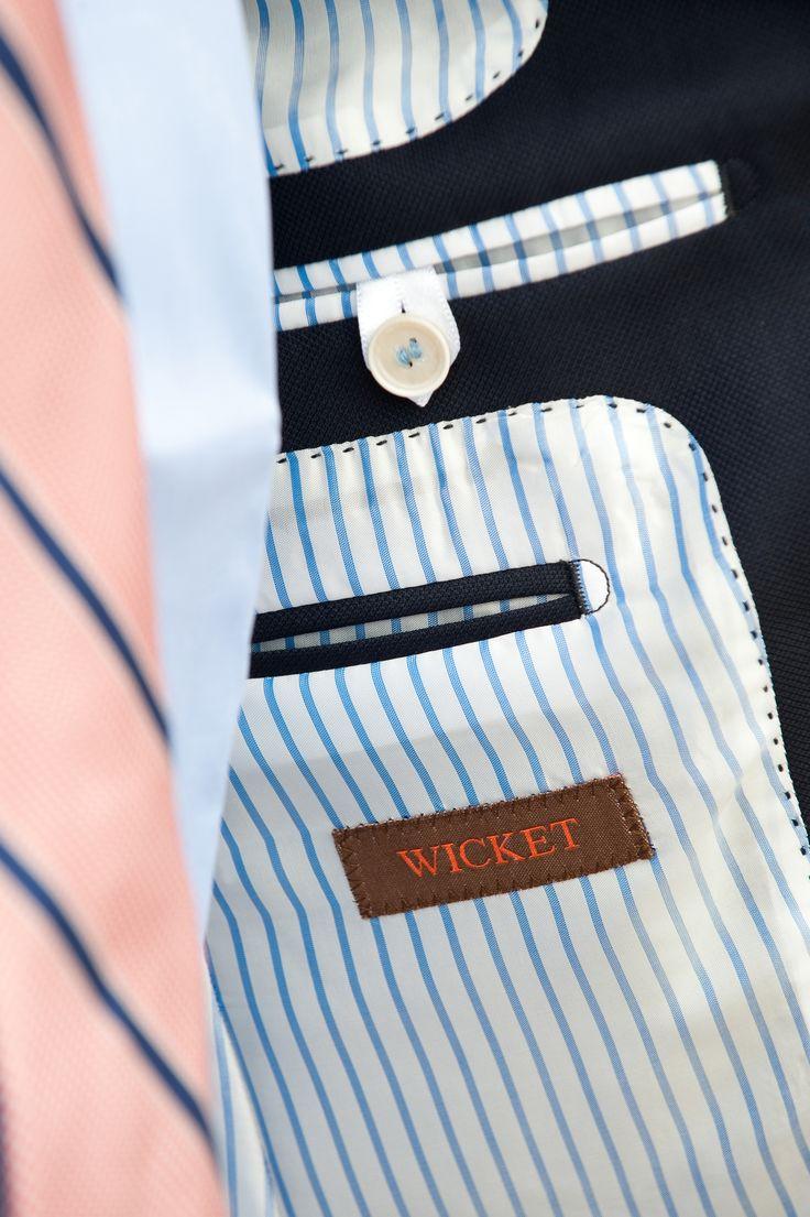 Doublure à rayures du blazer anglais Wicket! #WicketSoBritish