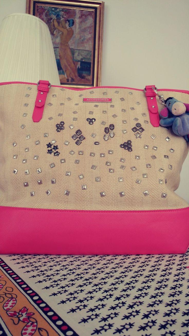 çanta süsleme, zımba süsleme, zımbalı çanta, ben yaptım, diy, do it yourself, DIY, diy project, kendin yap, handmade, el yapımı, el emeği, bag, çanta