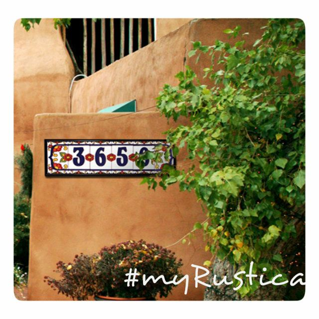 Decorative Tile House Numbers Colima  Mexican Handcrafted Ceramic Tile House Number  Spanish