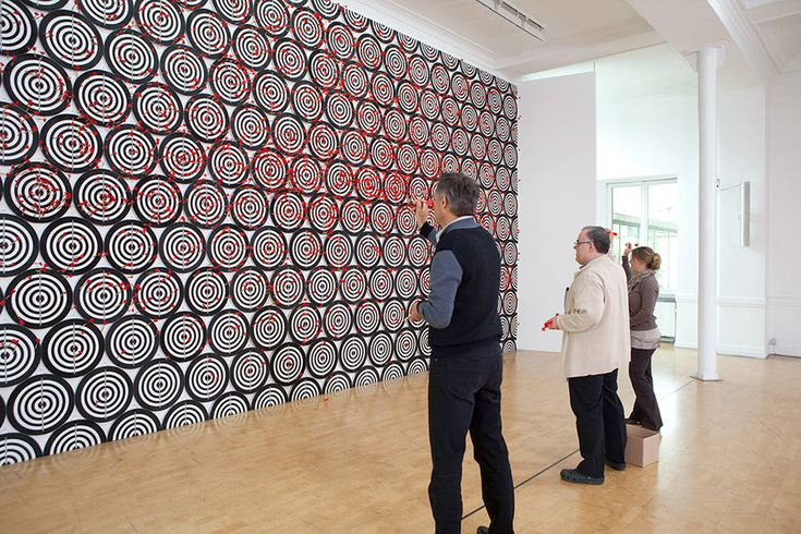 Interactive Dartboard Installation by Jacob Dahlgren