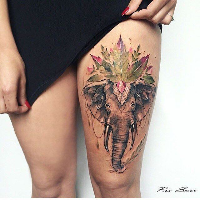 Wild elephant tattoo                                                                                                                                                                                 More