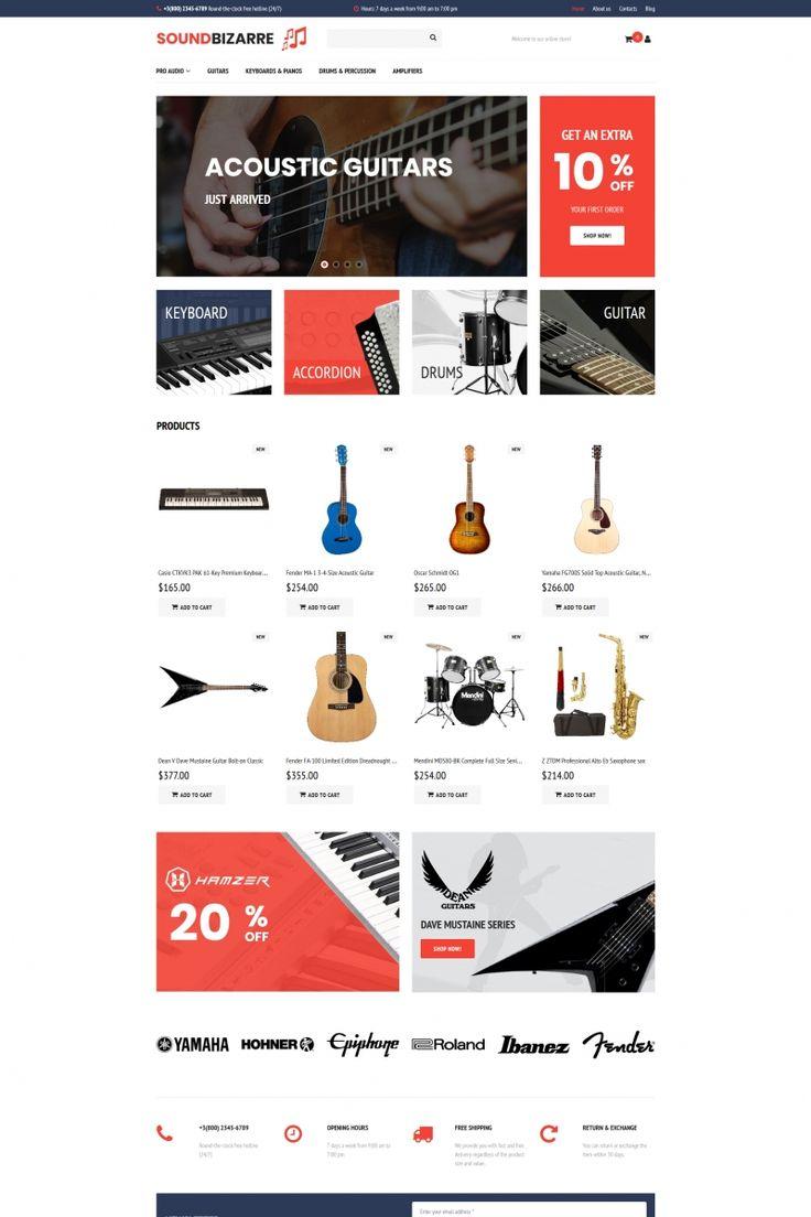 SoundBizarre - Music MotoCMS Ecommerce Template #65070