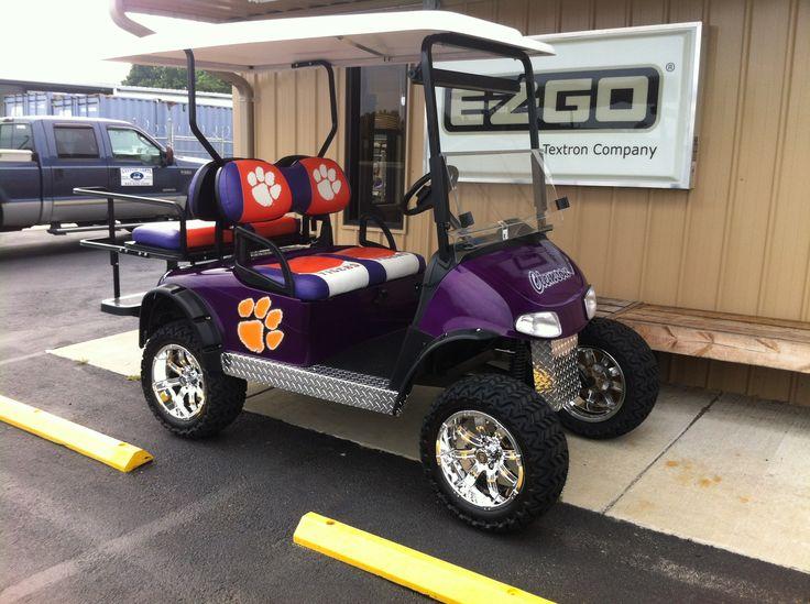 Clemson Custom Cart (Gas) our custom themed golf carts