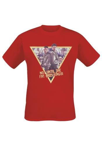 """Classica T-Shirt uomo rossa """"Fat Lady Sings"""" del film #IndependenceDay."""