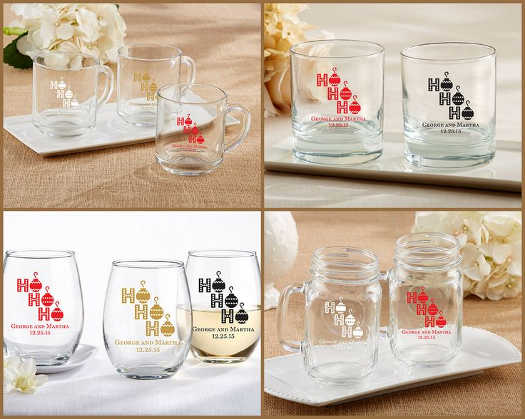 Holiday Themed Personalized Glassware from HotRef.com