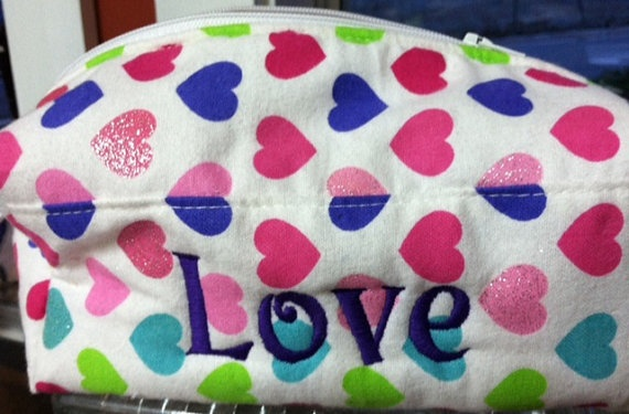 Handmade cosmetic makeup bag by LincolnsGranny on Etsy, $24.00