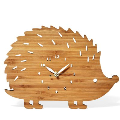 Great clock for the nursery. What's Hot: Hedgehog Accessories