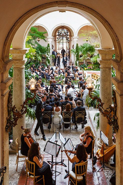 A string quartet is a fabulous way to create anticipation among guests as they wait for the bride's arrival.