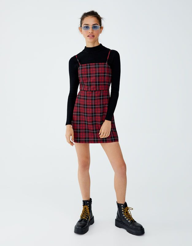 ba18d385b Check mini dress - pull&bear | Christmas 2018 in 2019 | Outfits ...