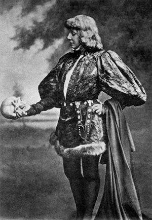 Sarah Bernhardt as Hamlet, 1880