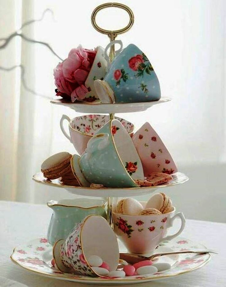 Great way to display beautiful tea cups! Royal Albert Tea Cups available on ouru2026 & 1257 best Tea Time images on Pinterest | Dish sets Afternoon tea ...