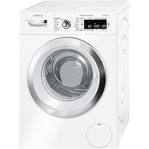 Buy Bosch WAWH8660GB Freestanding Washing Machine with i-DOS and Home Connect, 9kg Load, A+++ Energy Rating, 1400rpm Spin, White Online at johnlewis.com