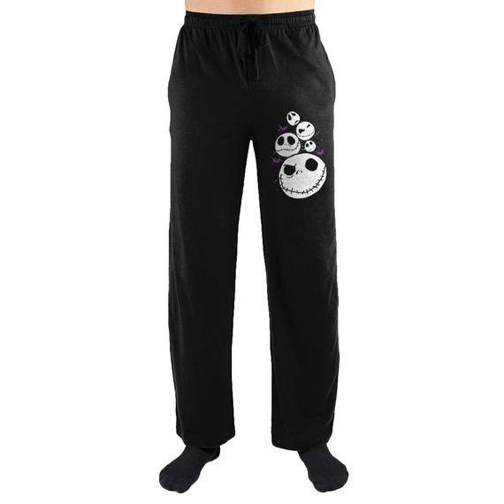 Nightmare Before Christmas Jack Skellington Face Lounge Sleep Pants