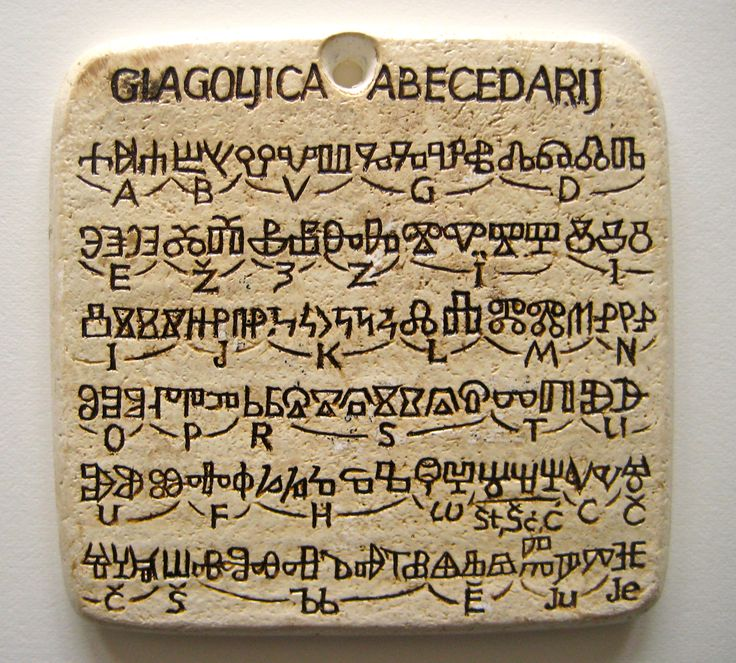 The Glagolitic Alphabet Was Invented During 9th Century By Missionaries St Cyril 827