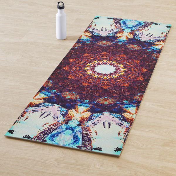 Complex Mandala Yoga Mat Zazzle Com Custom Yoga Mat Yoga Mat Mandala