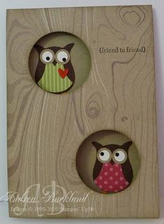 owl card I could use the owl paper I have stashed away
