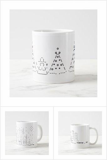 ASCII Art Holiday Mugs