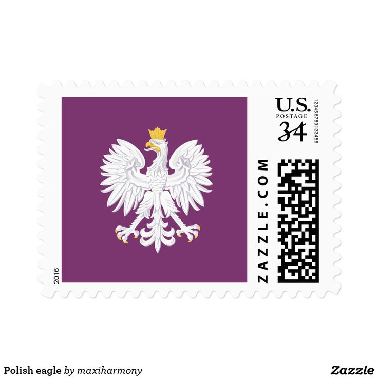 Polish eagle stamp