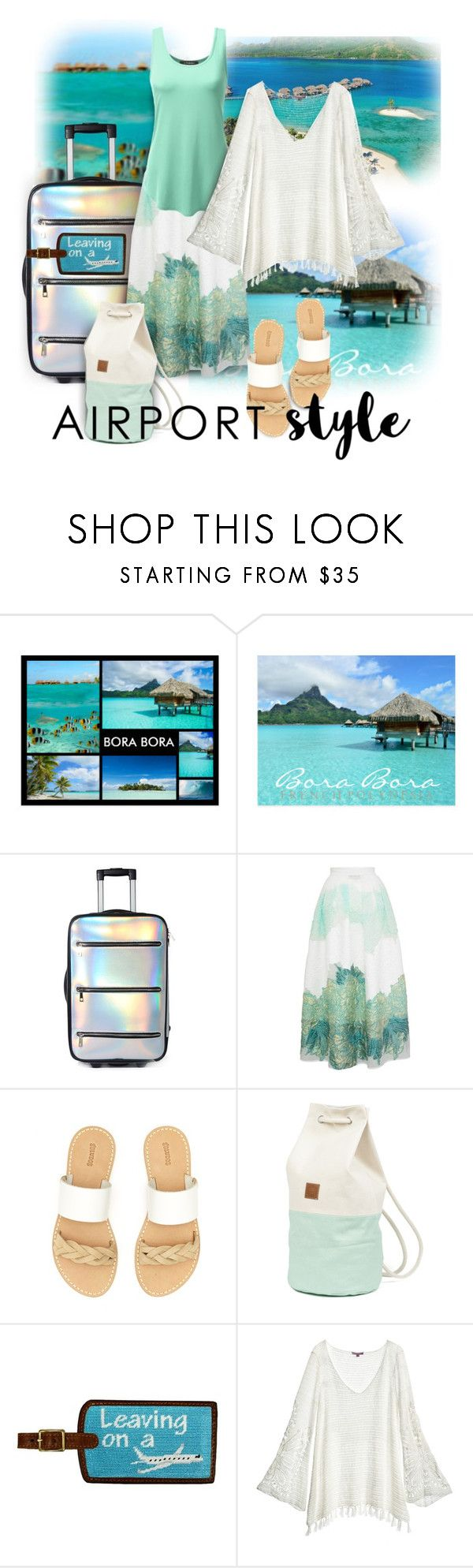 """Airport Style"" by constanceann ❤ liked on Polyvore featuring Bora Bora, Current Mood, Bora Aksu, Soludos, Calypso St. Barth, travel and summer2017"