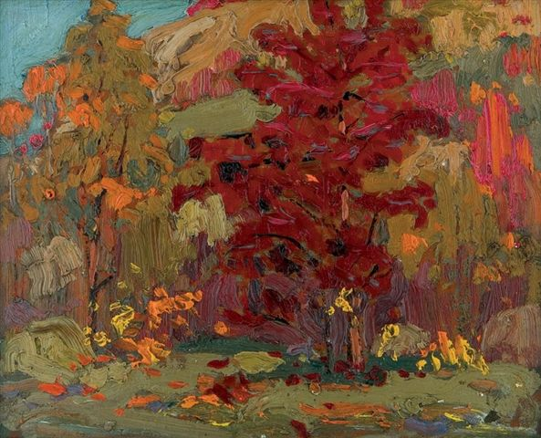 Tom Thomson Catalogue Raisonné | Colourful Maples, Fall 1914 (1914.82) | Catalogue entry
