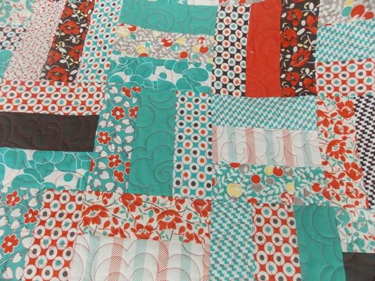 Jelly Roll Rail Fence FREE Quilt Tutorial.
