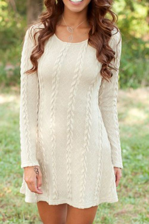 Best 20  Knit sweater dress ideas on Pinterest | Sweater dresses ...