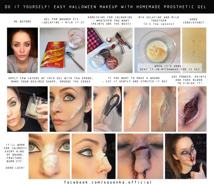 tutorial for fake wounds for everyone facebookcomsosenkaofficial - Halloween Fake Wounds