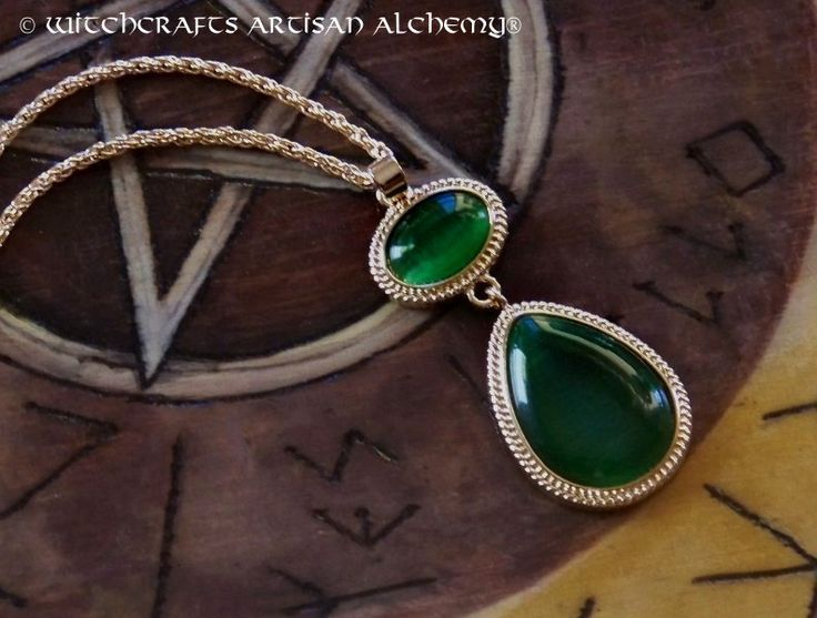 Witchcrafts Artisan Alchemy - WENDY Witches of the East End Green Rhinestone Pendant Necklace, $23.95 (http://www.witchcraftsartisanalchemy.com/wendy-witches-of-the-east-end-green-rhinestone-pendant-necklace/)