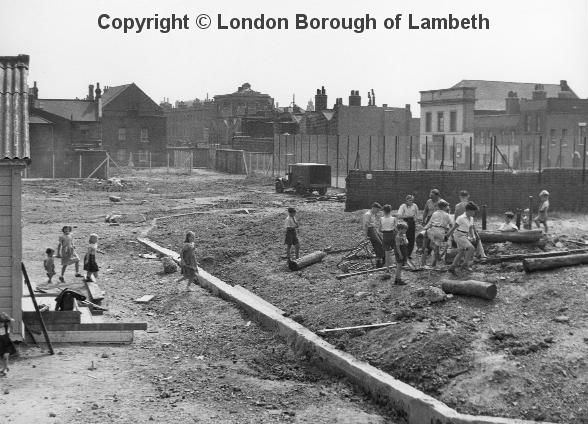 Lollard Adventure Playground, Wake Street, Lambeth 1958...clearing the site