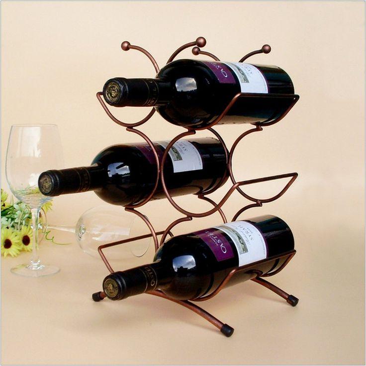 2017fashion European Style Red Wine Rack 6 Bottles Holder Mount Kitchen Wine Holder Display Red Wind Shelf Brand New House Decor