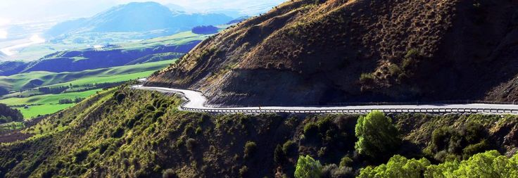 The highest main road in NewZealand, the Crown Range Road lies between Queenstown and Wanaka.