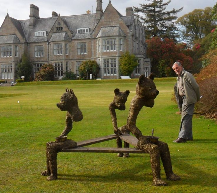 'Who's been sitting on my bench?' - my sculpture  now exhibited at Delamore Arts 2017, Cornwood in Devon