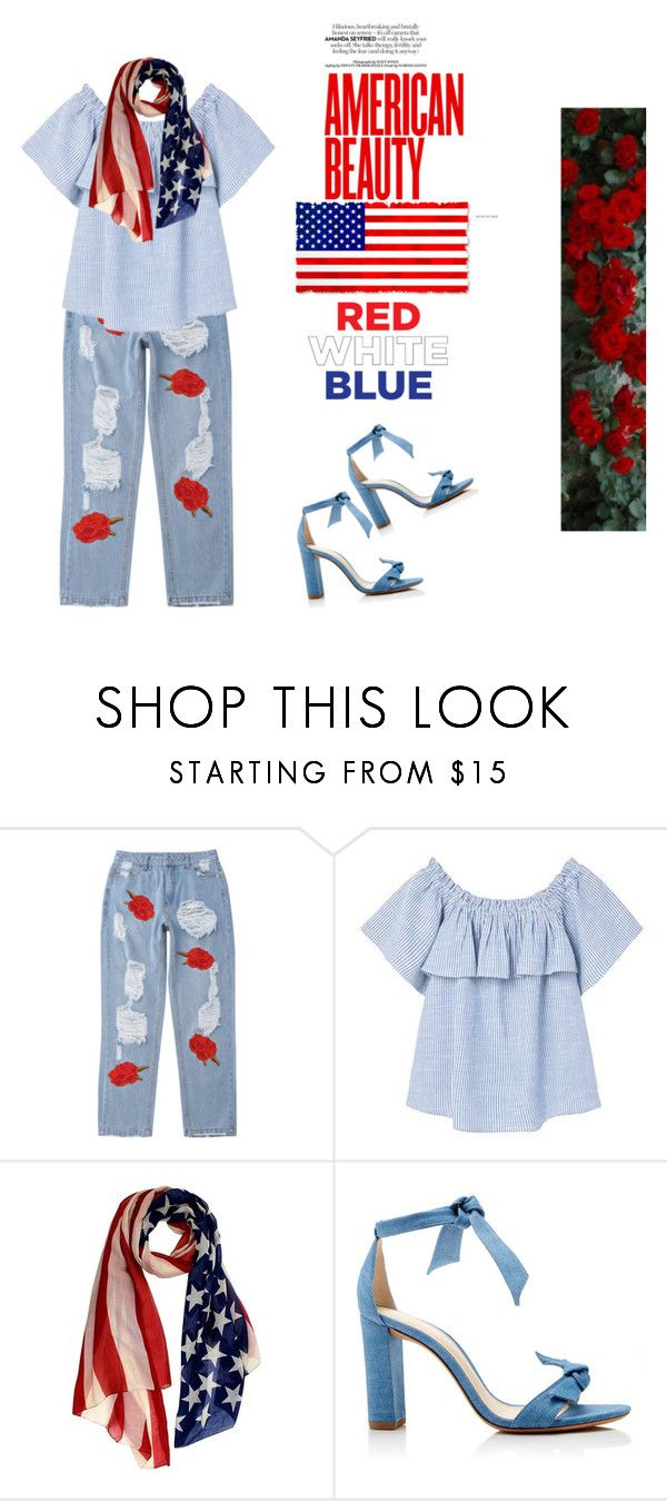 """""""Red Roses Blue Sky"""" by olesyabond ❤ liked on Polyvore featuring MANGO and Alexandre Birman"""
