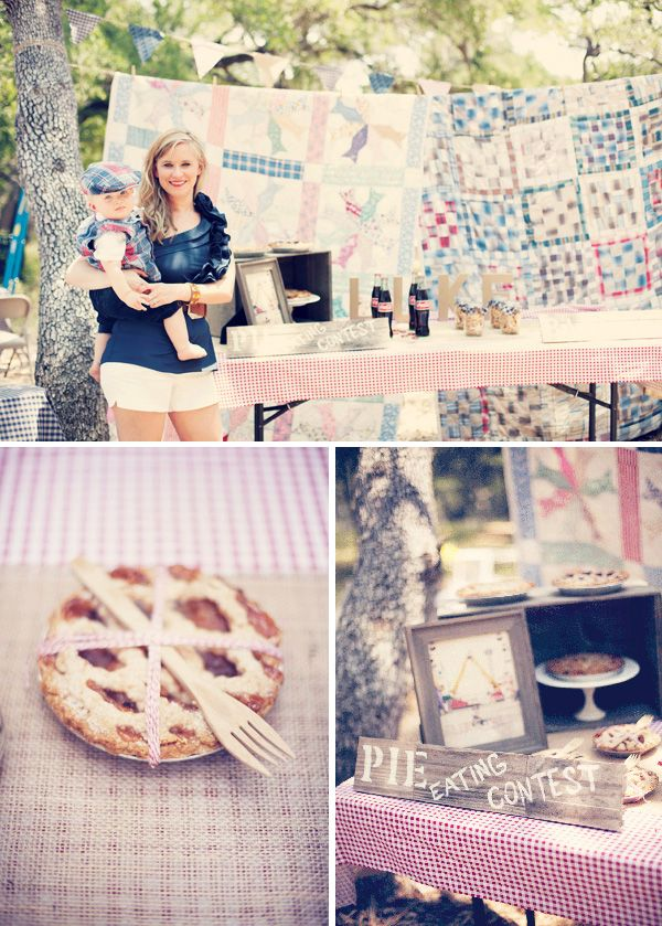 Vintage County Fair party theme- I like the pies and little jars of animal crackers.